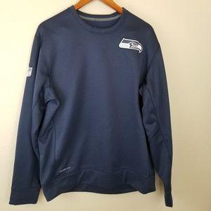 Nike Therma Fit Fleece Lined Seahawks Sweatshirt